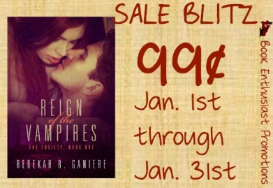 reign of the vampires by rebekah r ganiere sales blitz banner