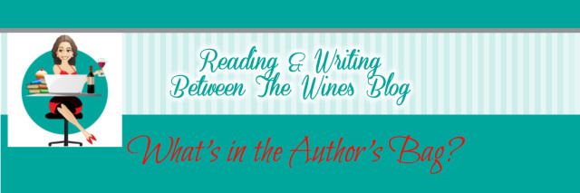 what's in the author's bag banner for blog